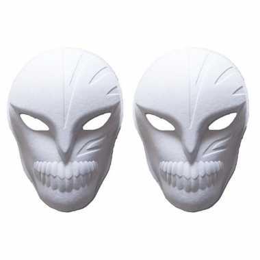 Hobby x stuks papier mache maskers halloween spook