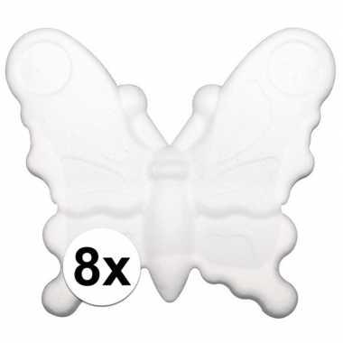 Hobby x stuks piepschuim vlinders ,