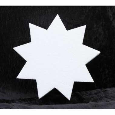 Hobby x stuks piepschuim vorm punts ster