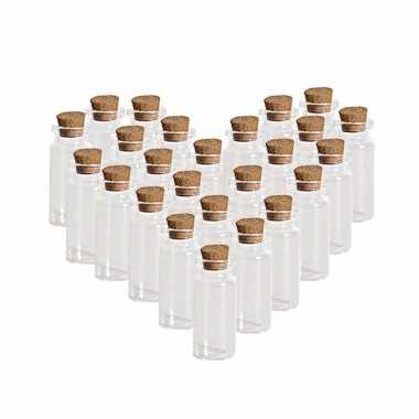 Hobby x transparante bruiloft cadeau flesjes glas kurken dop