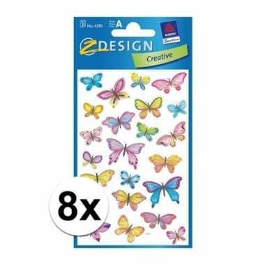 Hobby x vlinder stickers vellen