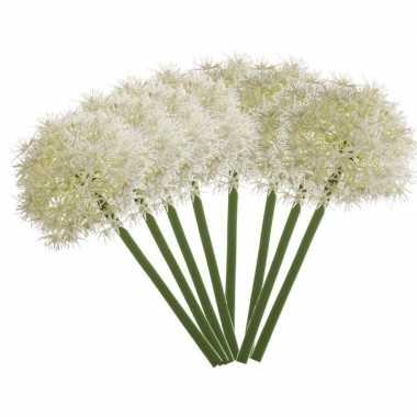 Hobby x witte allium/sierui kunstbloemen