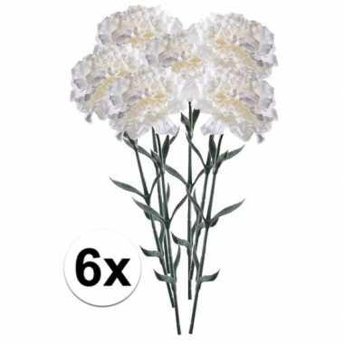 Hobby x witte anjer kunstbloemen tak