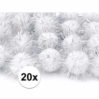 Hobby x witte knutsel pompons mm