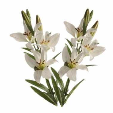 Hobby x witte lilium candidum/witte lelie kunstbloemen