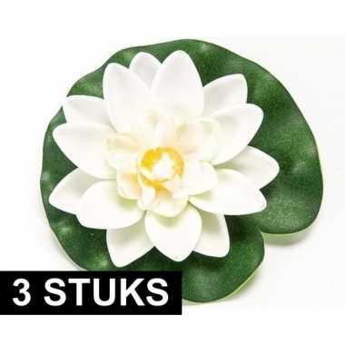 Hobby x witte lotus/waterlelies kunstbloemen