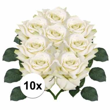 Hobby x witte roos kunstbloemen
