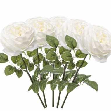 Hobby x witte rozen kunstbloemen