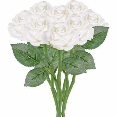 Hobby x witte rozen/roos kunstbloemen