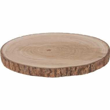 Hobby x woondecoratie ronde boomschijf paulowna hout