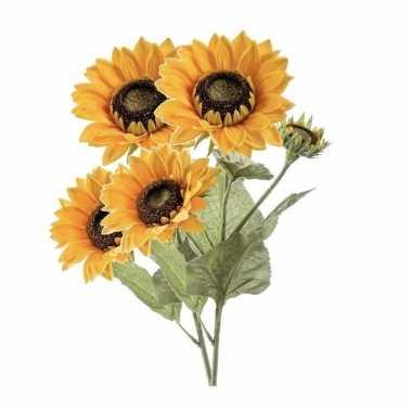 Hobby x zonnebloemen kunstbloemen takken bloemen geel