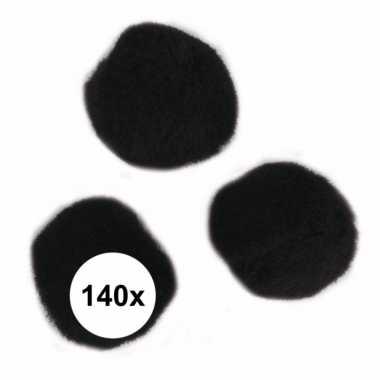 Hobby x zwarte knutsel pompons mm
