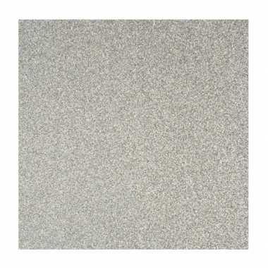 Hobby zilver glitter papier vel