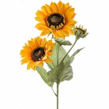 Hobby zonnebloem kunstbloem tak bloemen geel