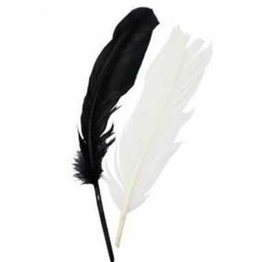 Hobby zwart/wit indianenveren