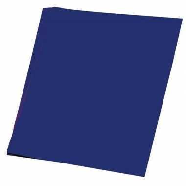 Vellen donker blauw a hobby papier