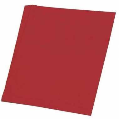 Vellen rood a hobby papier