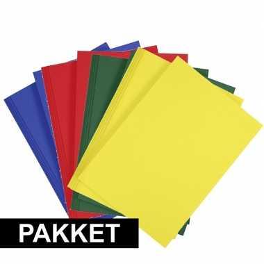 X a hobby karton blauw/rood/donkergroen/geel
