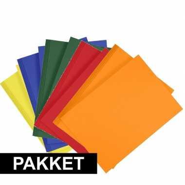 X a hobby karton geel/donkergroen/blauw/oranje/rood
