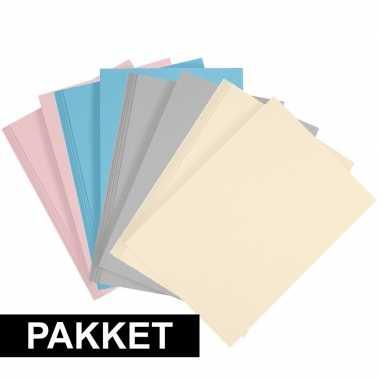 X a hobby karton lichtblauw/grijs/lichtroze/beige