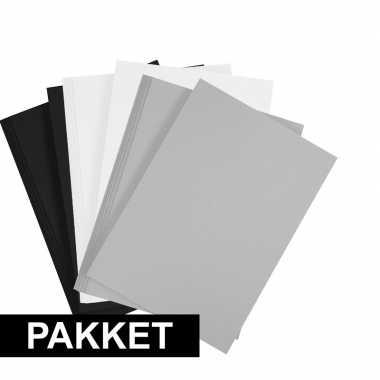 X a hobby karton zwart/wit/grijs