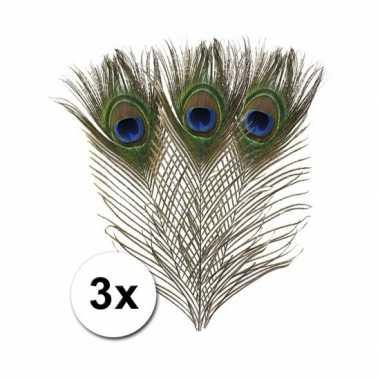 X decoratie pauwen veren hobby materiaal