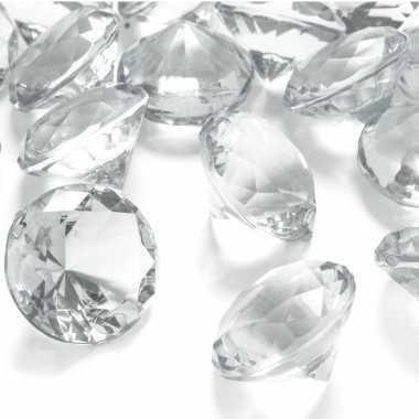 X hobby/decoratie transparante diamantjes/steentjes mm/