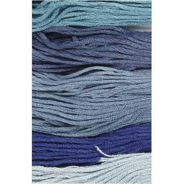 X hobby naaigaren/borduurgaren blauwtinten mm