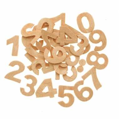 X houten cijfers/getallen , hobby/knutselmateriaal