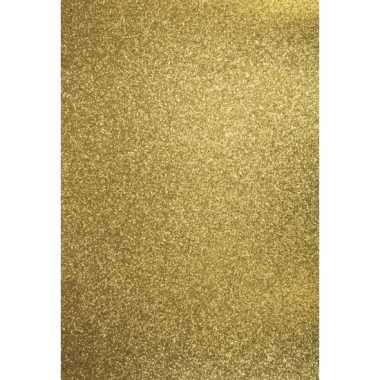 X vellen glitterend goud hobby karton a