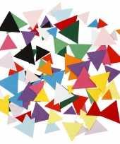 Gekleurde hobby karton driehoekjes gram