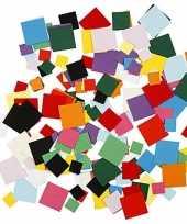 Gekleurde hobby karton vierkantjes gram