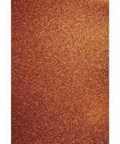 Glitterend oranje hobby karton a