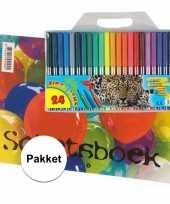 Hobby a schetsboek inclusief viltstiften