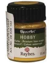 Hobby acrylverf goudgeel ml