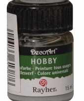 Hobby acrylverf lichtgrijs ml