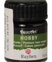 Hobby acrylverf zwart ml