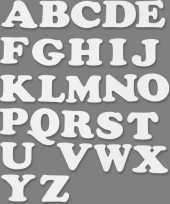 Hobby alfabet wit karton sets