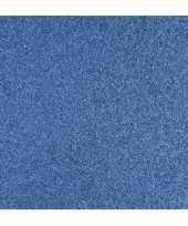 Hobby blauw glitter papier vel