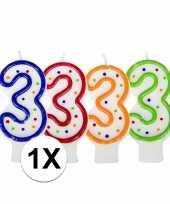 Hobby cijferkaars stippen 10018684