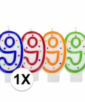 Hobby cijferkaars stippen 10018690