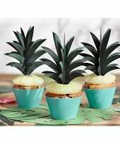 Hobby cocktailprikkers ananas bladeren stuks