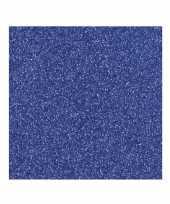 Hobby donkerblauw glitter papier vel