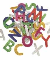 Hobby foam foam rubberen glitter letters gekleurd