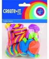Hobby foam rubberen cijfers diverse kleuren st