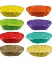 Hobby gekleurd rieten mandje