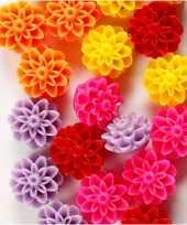 Hobby gekleurde bloemen kralen stuks