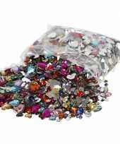 Hobby gekleurde strass stenen diamantjes hart