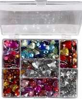 Hobby gekleurde strass stenen display box