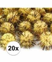 Hobby gele knutsel pompons mm